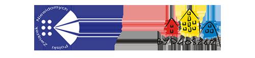 Baner z logo PZN oraz logo Miasta Bydgoszcz