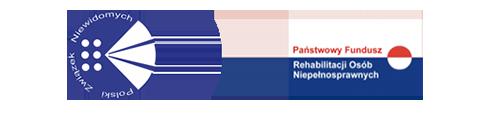 Baner z logo PZN oraz logo PFRON